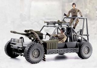 Soldados Con Vehículo Militar Arenero Mercado Juguetes