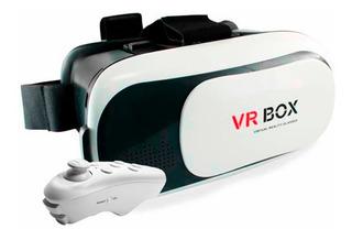 Lentes 3d Realidad Virtual Visor Vr Celular Control Incluido