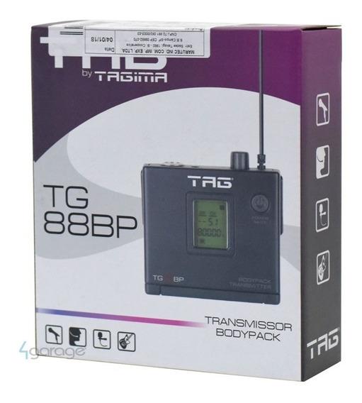 Transmissor Bodypack Tag Sound Tg-88bp P/ Lapela-auricular
