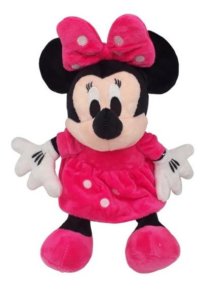 Minie Rosa Pelúcia Musical 27 Cm Turma Do Mickey Minnie