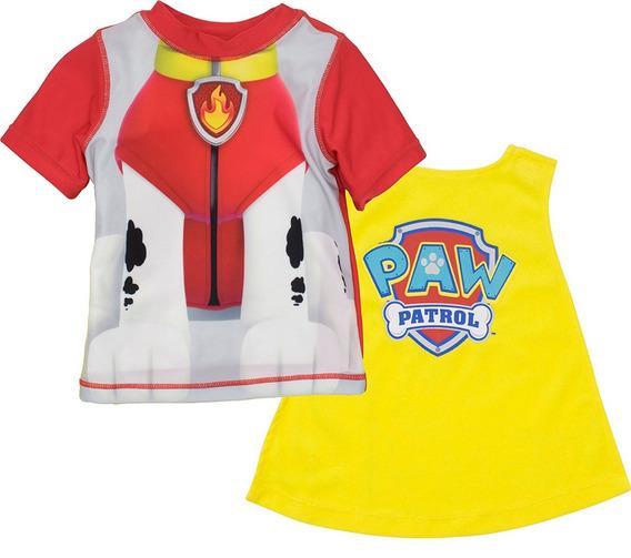 Camiseta Con Capa Paw Patrol Nickelodeon