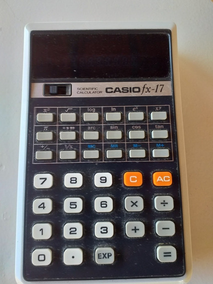Calculadora Antiga Casio Fx-17 Scientific Calculator Linda