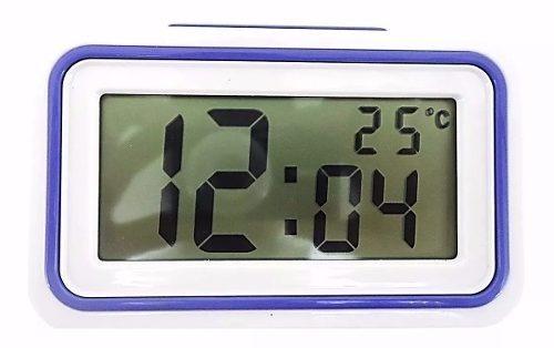 Relógio Despertador Fala Hora Deficiente Visual Azul Escuro