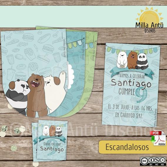 Kit Imprimible Deco- Escandalosos . Original Milla Antü
