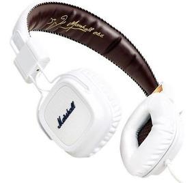 Fone De Ouvido Major Branco Com Microfone Marshall