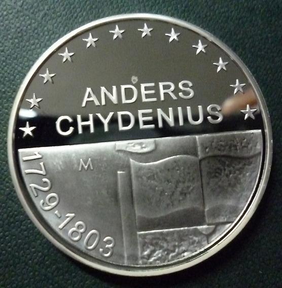 Finlandia Moneda Plata 10 Euros Proof 2003 Anders Chydenius