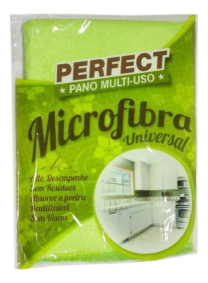 Flanela Toalha Pano Microfibra 40x40 Cm Perfect Universal