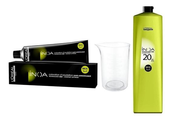 Tintura Loreal Inoa Sin Amoniaco + Oxidante Revelador Litro