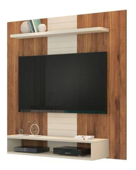 Painel Para Tv Ate 47 Smart Rustico Terrara/off White(i)