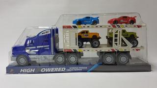Camión Con Cigüeña Y Carros