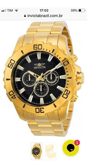 Relógio Invicta Pró Diver 22546 - Ouro - Original