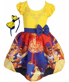 Vestido Bela E A Fera + Tiara