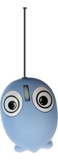 Mouse Optico Forma De Pez Celeste Cable Usb 800dpi