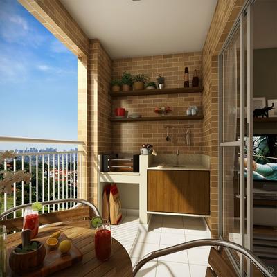 Apartamento -70m² -3 Dorm. (1 Suite) - Vista Arboris Mistral