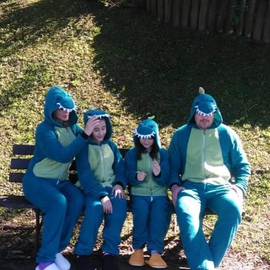 Pijama De Inverno Kigurumi Dinossauro