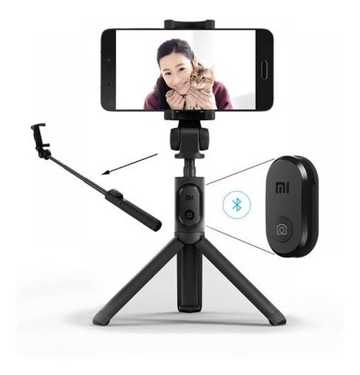 Pau De Selfie Xiaomi Stick Tripé Bluetooth Original Top