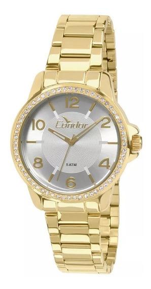 Relógio Condor Feminino Dourado Co2035kqi/4b Original Barato