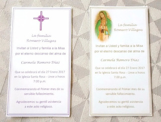 Invitaciones De Misas En Mercado Libre Perú