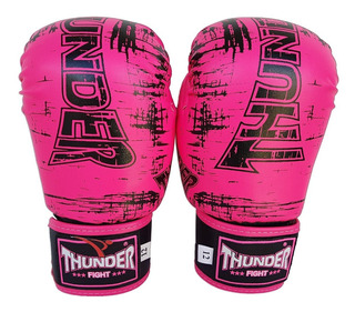 Luva Boxe Muay Thai Feminina 12 Top Treino Thunder Pulser