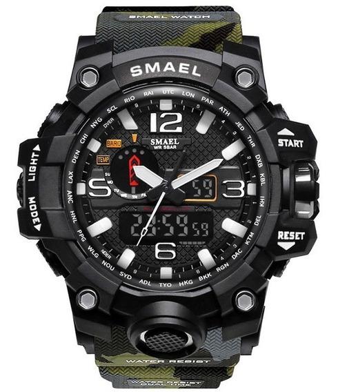 Relógio Masculino Smael Esportivo Camuflado Frete Grátis