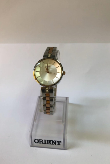 Relógio Feminino Orient Prata E Rose Gold Ftss0026