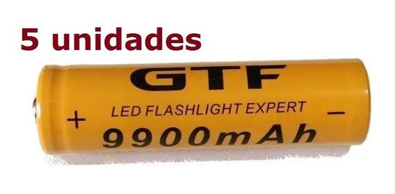 5 Bateria Pilha Recarregavel Gtf 9900mah 18650 3.7v Ion Litio Para Nodemcu Esp32 8266