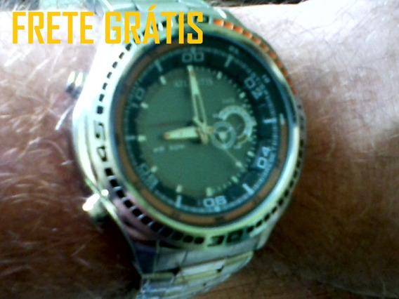 Frete Grátis Relógio Masc Atlantis 6098g Anadigi Illuminator