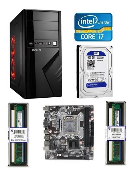 Cpu Computadora Escritorio Intel I7 16gb De Ram 500gb Disco