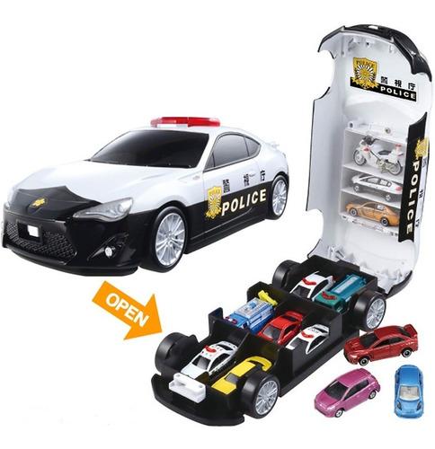 Juguete Niño Policia Auto Garage A Pilas Luces Sonidos- 8725