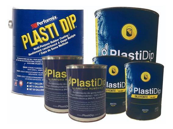 Pintura Removible Plasti Dip 12l Para Pintar Auto Chico Azul