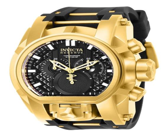 Relógio,masculino Dourado Com Preto Grande Pesado Barato