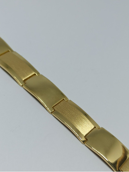 Pulseira Masculina Chapa Bracelete Ouro 18k-750 Garantia