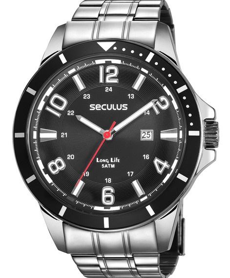 Relógio Masculino Seculus Prateado Long Life 28987g0svna1
