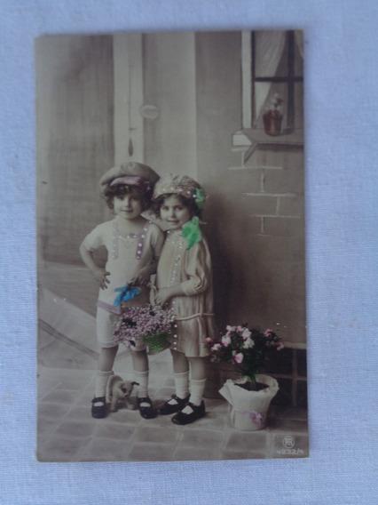Cartão Postal Temático Brinquedo Antigo Pelúcia 1915