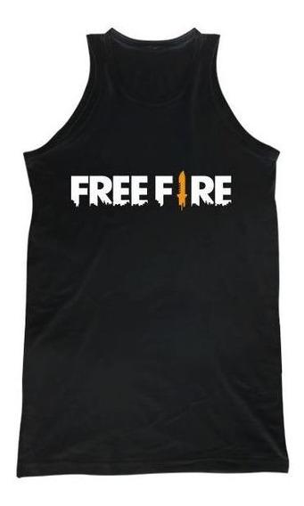Musculosa Free Fire Logo H