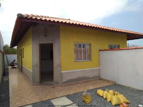 Imagem 1 de 7 de Casas Na Praia À Venda  Em Itanhaem/sp - Compre O Seu Casas Na Praia Aqui! - 1481857