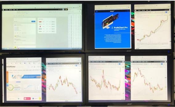 Computador Pc Trader - 4 Monitores- Suporte -