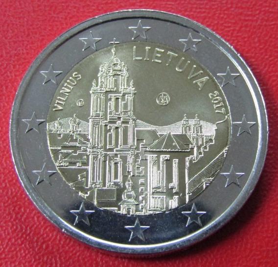 Lituania Moneda Bimetalica 2 Euros 2017 Unc Vilnius