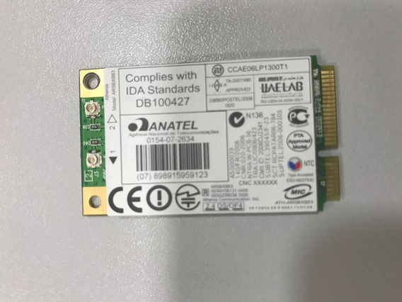 Placa Wireless Atheros Ar5bxb63 P/ Notebook