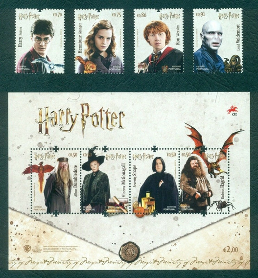 2019 Peliculas- Harry Potter - Portugal (bloque + Serie) Mnh