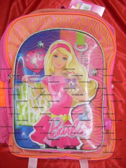 Mochila Barbie Infantil Jardin Sin Carro Con Falla Pequeña