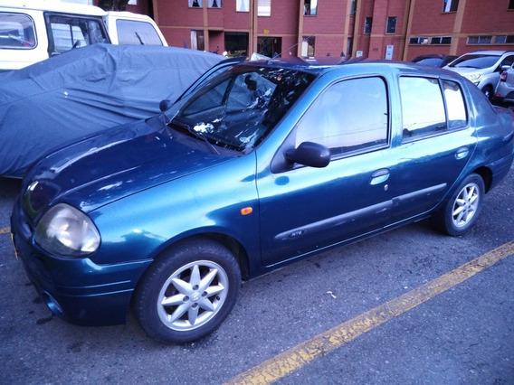 Renault Simbol, Motor 1.4 (2002) Azul Aguamarino, 5 Puertas.