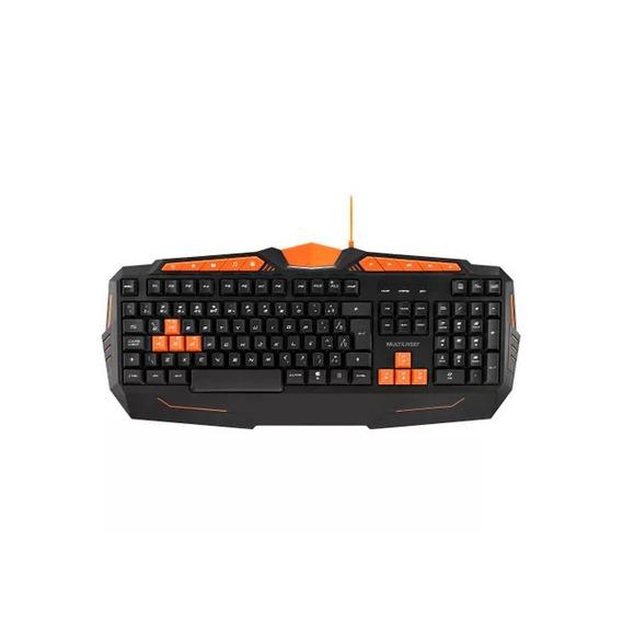 Teclado Gamer Usb Preto/laranja Multilaser