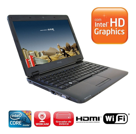 Notebook Cce T23l C/ Intel Core I3, 4gb, 320gbhd