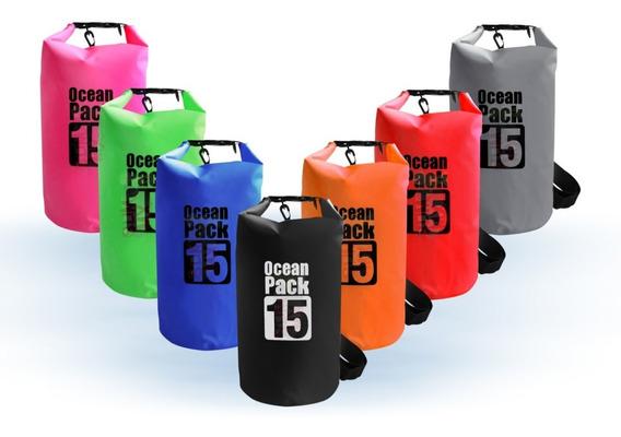 Bolsa Seca Contra Agua Impermeable 15 Litros Dry Bag Kayak