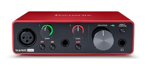 Interface de audio Focusrite Scarlett Solo 3.ºra  gen