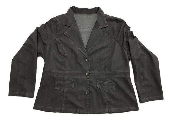 Casaco Jeans Feminino Plus Size Tamanhos Gg2 E Gg3