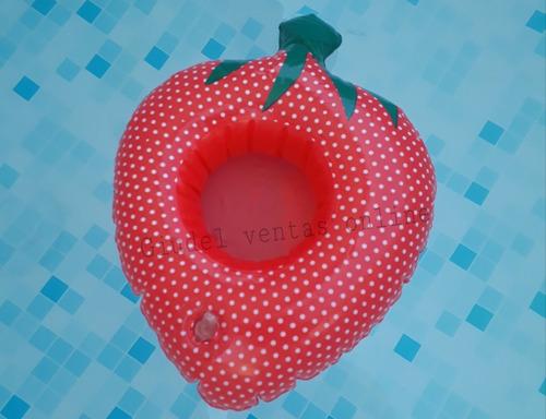 Posa Vaso Inflable Frutilla