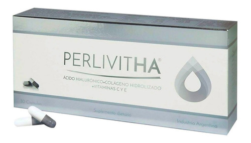 Imagen 1 de 6 de Perlivitha Antiedad Acido Hialuronico Colageno 30 Caps