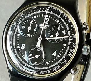 Relogio Swatch Cronografo Ano 95/96 Modelo Scb114 Pure Black
